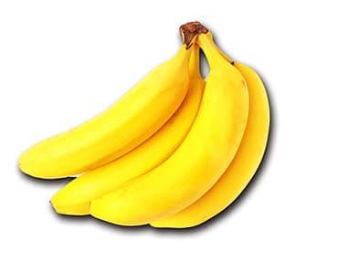 影をつける加工をしたバナナの切抜き画像