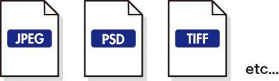 JPEG・PSD・TIFF